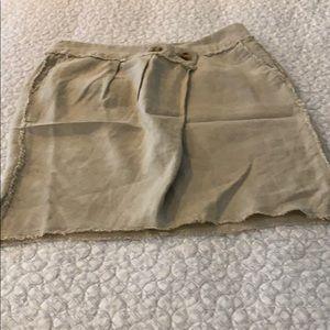 Michael Kors linen button skirt